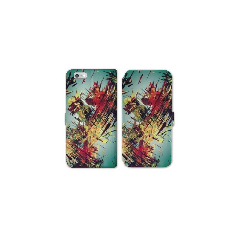Rv housse cuir portefeuille iphone 8 grunge for Housse iphone 8