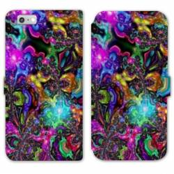 RV Housse cuir portefeuille Iphone 8 Psychedelic