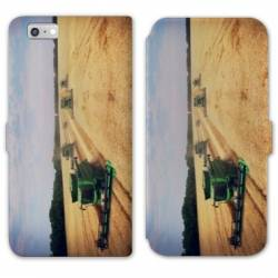 RV Housse cuir portefeuille Iphone 8 Agriculture