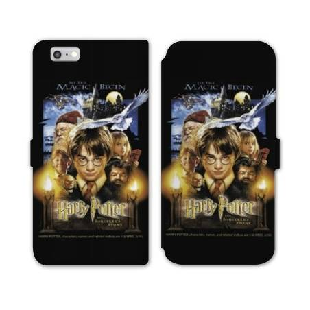 RV Housse cuir portefeuille Iphone 8 WB License harry potter D