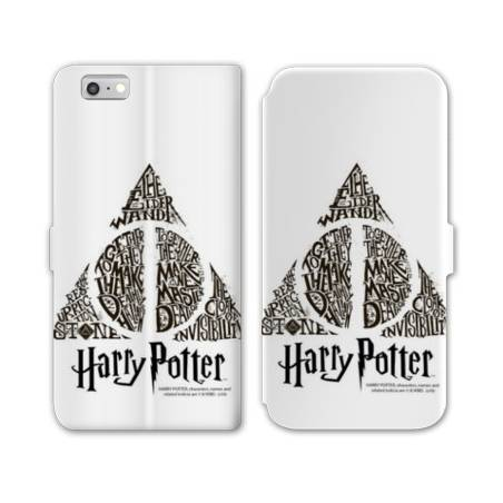 RV Housse cuir portefeuille Iphone 8 WB License harry potter pattern