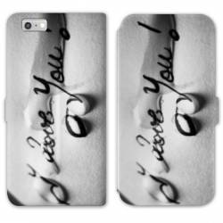 RV Housse cuir portefeuille Iphone 8 amour