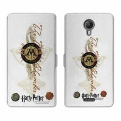 RV Housse cuir portefeuille Wiko jerry2 / jerry 2 WB License harry potter pattern