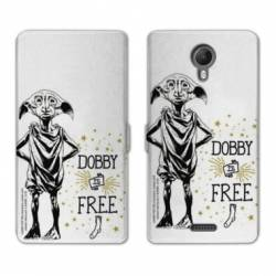 RV Housse cuir portefeuille Wiko jerry2 / jerry 2 WB License harry potter dobby