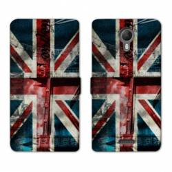 RV Housse cuir portefeuille Wiko jerry2 / jerry 2 Angleterre