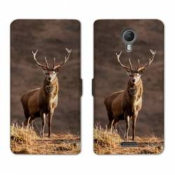 RV Housse cuir portefeuille Wiko jerry2 / jerry 2 chasse peche