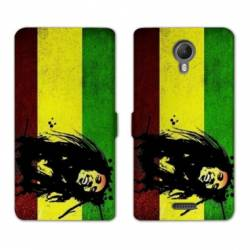RV Housse cuir portefeuille Wiko jerry2 / jerry 2 Bob Marley