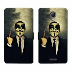 RV Housse cuir portefeuille Wiko jerry2 / jerry 2 Anonymous