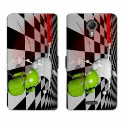 RV Housse cuir portefeuille Wiko jerry2 / jerry 2 apple vs android
