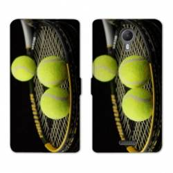 RV Housse cuir portefeuille Wiko jerry2 / jerry 2 Tennis