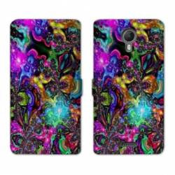 RV Housse cuir portefeuille Wiko jerry2 / jerry 2 Psychedelic