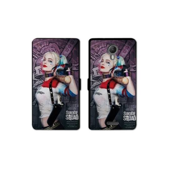 RV Housse cuir portefeuille Wiko jerry2 / jerry 2 WB Licence Harley Quinn