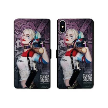 RV Housse cuir portefeuille Iphone x WB Licence Harley Queen