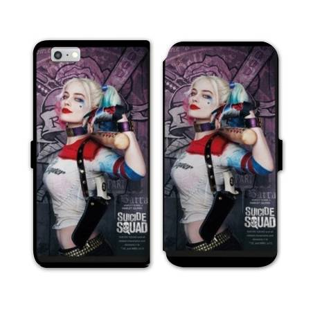 RV Housse cuir portefeuille Iphone 7 WB Licence Harley Queen