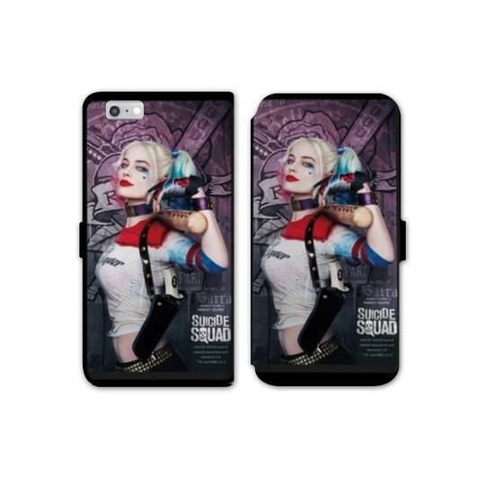 RV Housse cuir portefeuille Iphone 6 / 6s WB Licence Harley Quinn