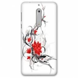 Coque Nokia 8 fleurs