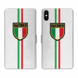 RV Housse cuir portefeuille Iphone x Italie