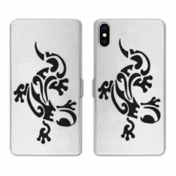 RV Housse cuir portefeuille Iphone x animaux