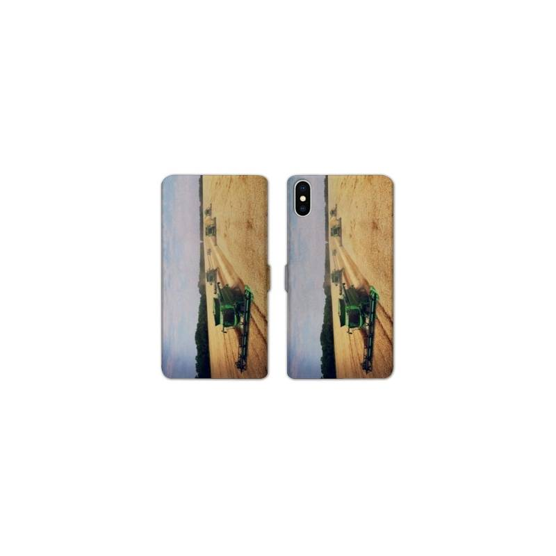 Rv housse cuir portefeuille iphone x agriculture for Housse iphone x