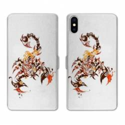 RV Housse cuir portefeuille Iphone x reptiles