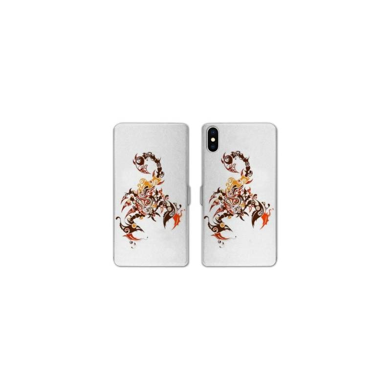 Rv housse cuir portefeuille iphone x reptiles for Housse iphone x