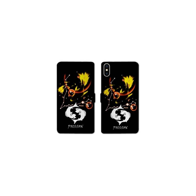 Rv housse cuir portefeuille iphone x signe zodiaque for Housse iphone x