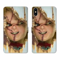 RV Housse cuir portefeuille Iphone x Horreur