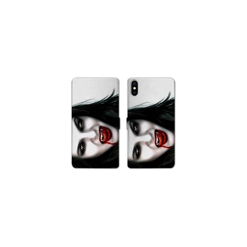 Rv housse cuir portefeuille iphone x horreur for Housse iphone x