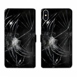 RV Housse cuir portefeuille Iphone x Trompe oeil