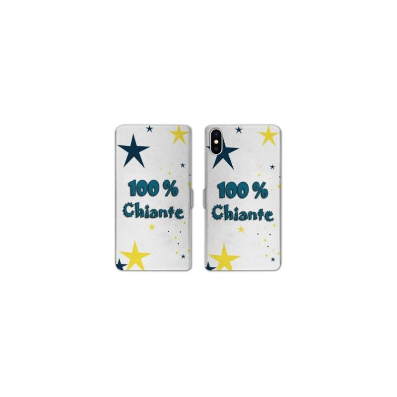 Rv housse cuir portefeuille iphone x humour for Housse iphone x