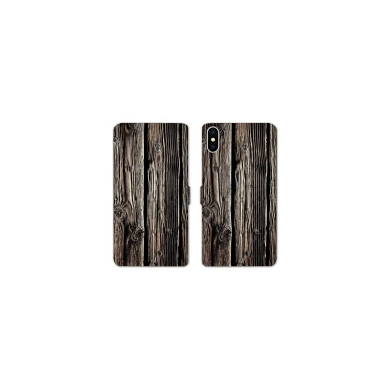 Rv housse cuir portefeuille iphone x texture for Housse iphone x