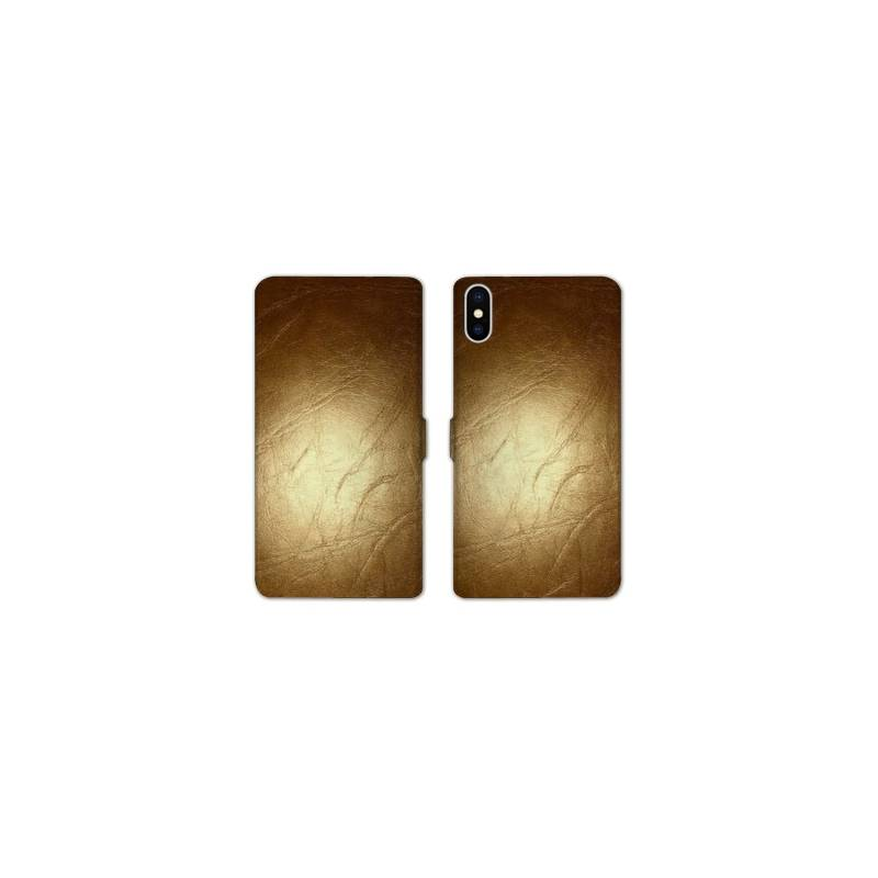 Rv housse cuir portefeuille iphone x texture for Iphone housse cuir