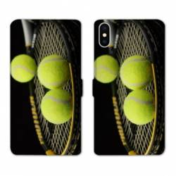 RV Housse cuir portefeuille Iphone x Tennis