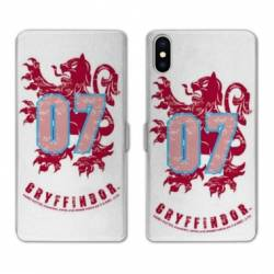 RV Housse cuir portefeuille Iphone x WB License harry potter pattern