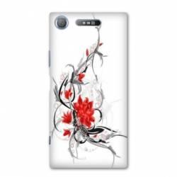Coque Sony Xperia XZ1 COMPACT fleurs