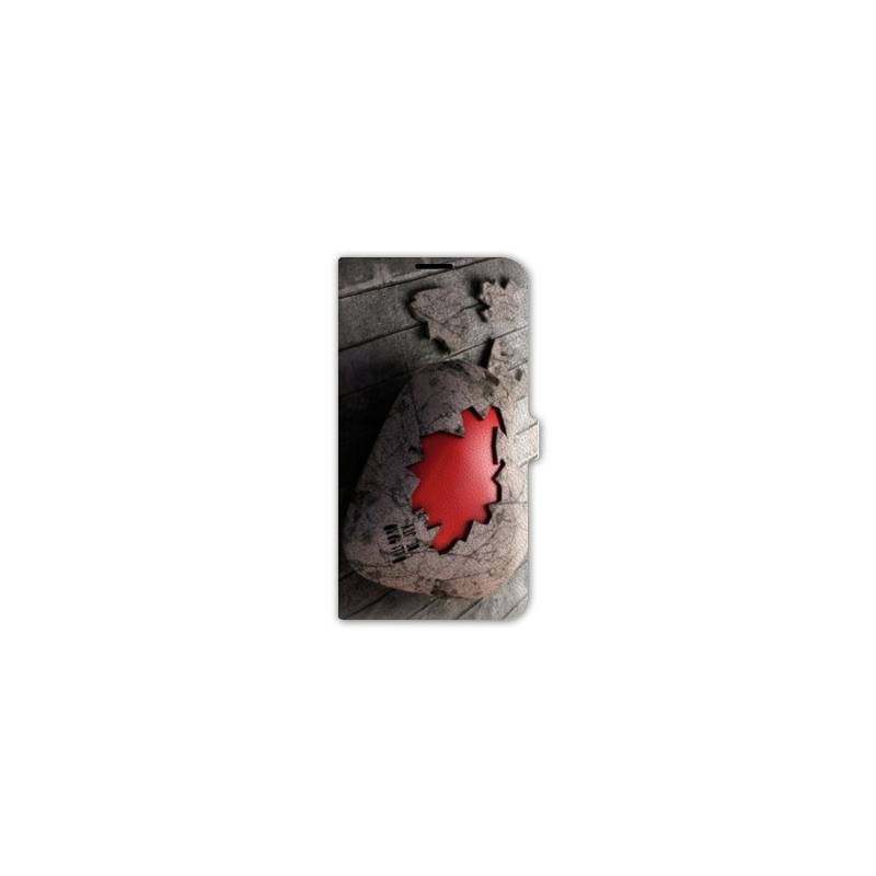 Housse cuir portefeuille Iphone 6 / 6s amour