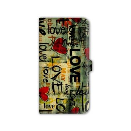Housse portefeuille cuir Iphone 6 amour
