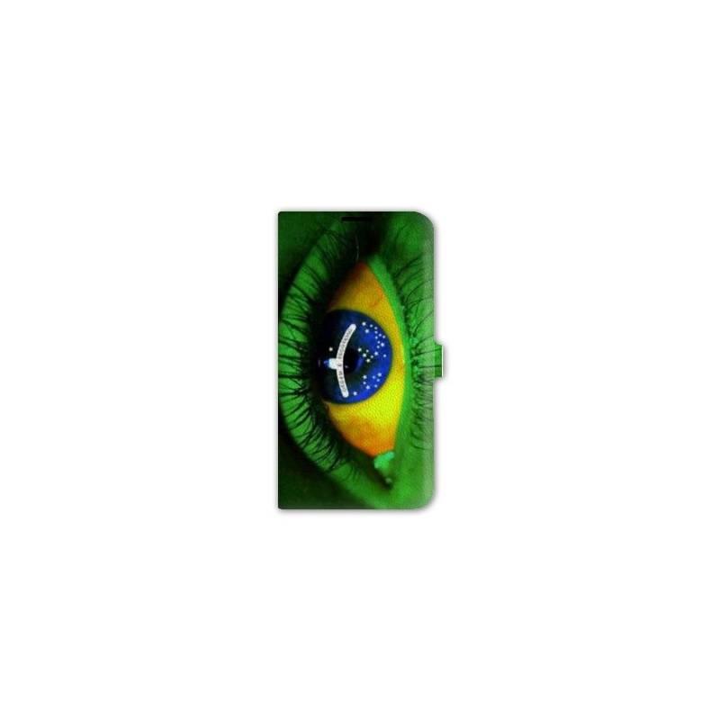 Housse cuir portefeuille pour iphone 6 / 6s Bresil