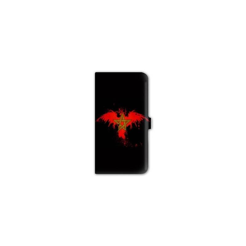 Housse cuir portefeuille pour iphone 6 / 6s Maroc