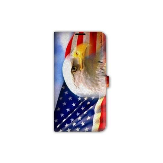 Housse portefeuille cuir Iphone 6 Amerique