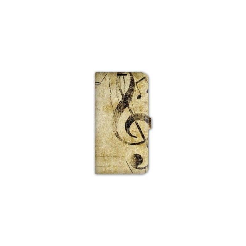 Housse cuir portefeuille Iphone 6 / 6s Musique