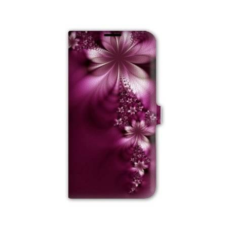 Housse portefeuille cuir Iphone 6 fleurs