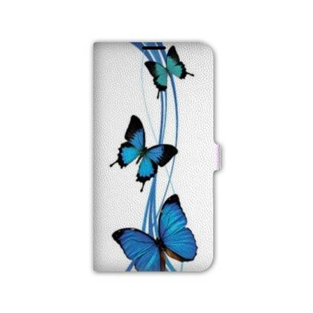 Housse portefeuille cuir Iphone 6 papillons