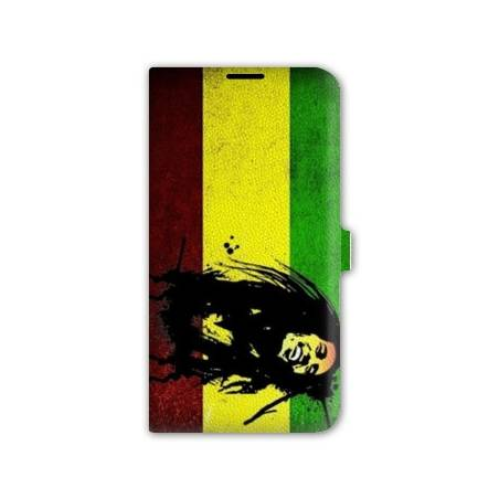 Housse portefeuille cuir Iphone 6 Bob Marley