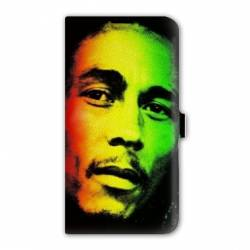 Housse cuir portefeuille Iphone 6 / 6s Bob Marley