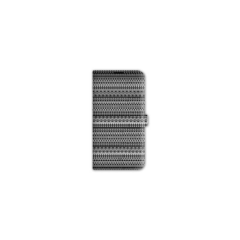 Housse cuir portefeuille Iphone 6 / 6s motifs Aztec azteque