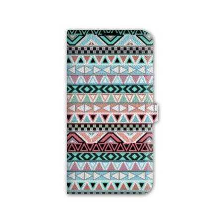 Housse portefeuille cuir Iphone 6 motifs Aztec azteque