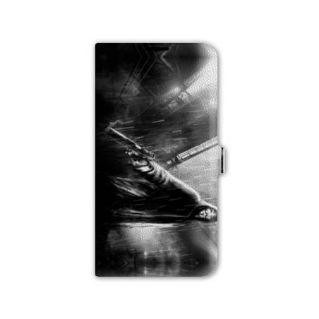 Housse portefeuille cuir Iphone 6 Anonymous