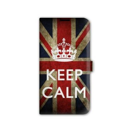 Housse portefeuille cuir Iphone 6 Keep Calm