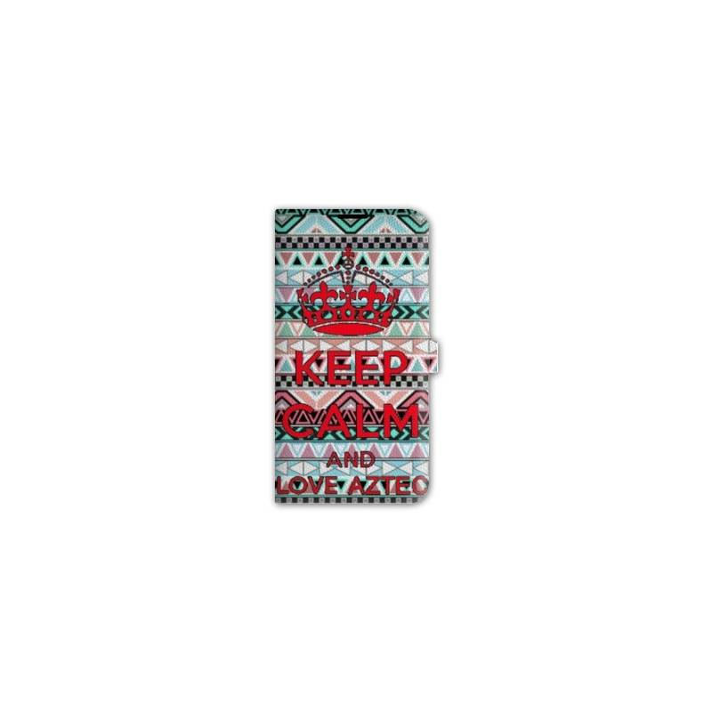 Housse cuir portefeuille Iphone 6 / 6s Keep Calm